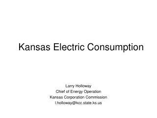 Kansas Electric Consumption