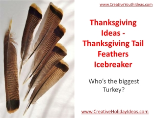 Thanksgiving Ideas - Thanksgiving Tail Feathers Icebreaker