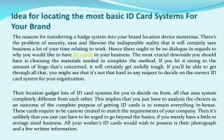ID Card Printer Details