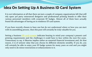 ID Card Software Details