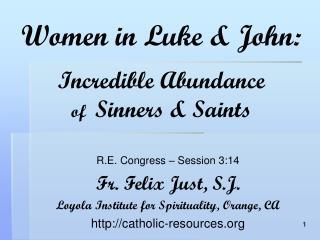 women in luke  john: