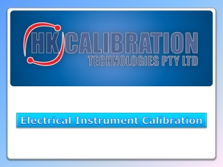 HK Calibration - Electrical Instrument Calibration