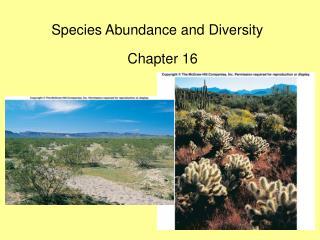 species abundance and diversity