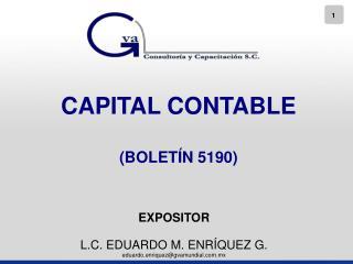 CAPITAL CONTABLE  BOLET N 5190