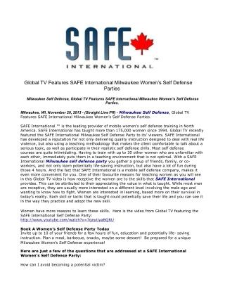 Global TV Features SAFE International Milwaukee Women