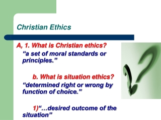 can christian principles