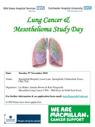 Lung Cancer  Mesothelioma Study Day