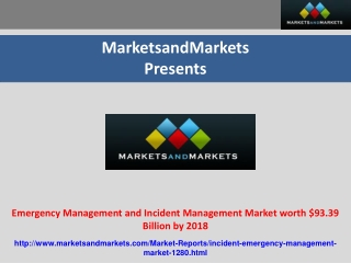 Emergency Management and Incident Management Market