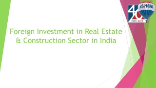 Foreign Investment in Real Estate