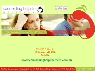 Counselling Help Line Melbourne - Addiction Counselling