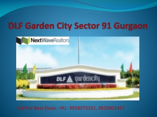 DLF Garden City Plots Sector 91 Gurgaon