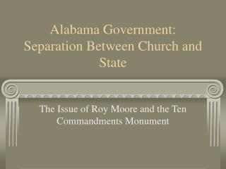 Alabama Government: Separation Between Church and State
