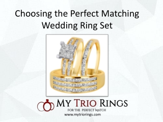 Reasons to Pick a Matching Wedding Ring Set