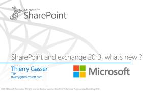 SharePoint and exchange 2013, what s new