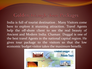 Golden Triangle Tour Packages: Chaman Duggal