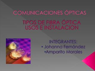 COMUNICACIONES  PTICAS