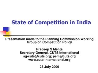 State of Competition in India