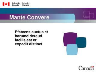 Mante Convere