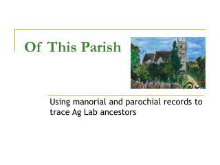 Of This Parish
