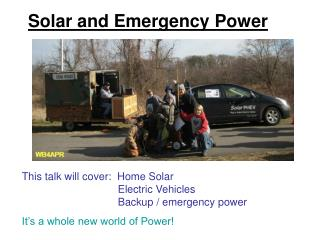 Solar and Emergency Power