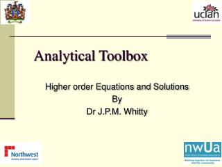 Analytical Toolbox