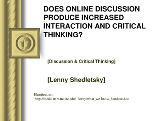 enhancing and assessing abstract thinking in online class ...