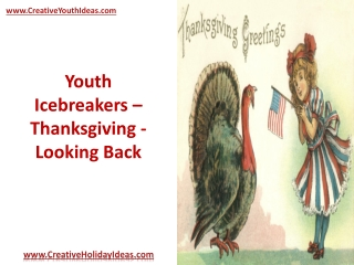 Youth Icebreakers - Thanksgiving - Looking Back