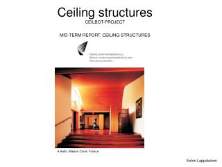 Ceiling structures CEILBOT-PROJECT MID-TERM REPORT, CEILING STRUCTURES