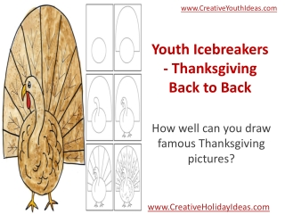 Youth Icebreakers - Thanksgiving Back to Back