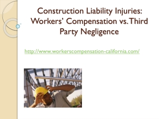 Workers' Compensation vs. Third Party Negligence
