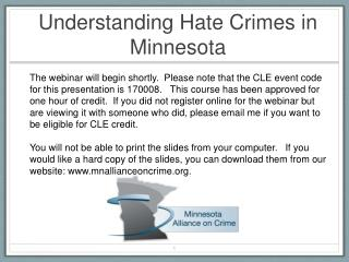 Understanding Hate Crimes in Minnesota