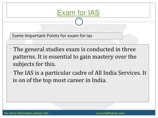 All you wanted to know about exam for ias