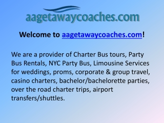 NYC Party Bus - Charter Bus tours - Party Bus Rentals