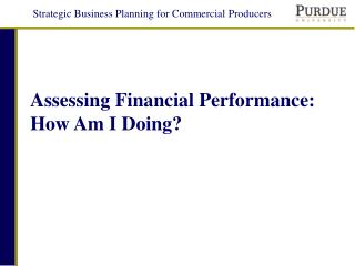 Assessing Financial Performance: How Am I Doing?