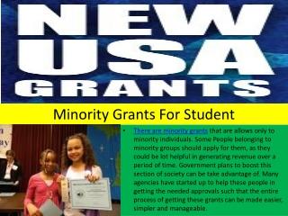 Minority Grants For Student