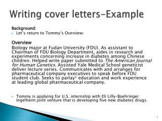 Writing cover letters-Example