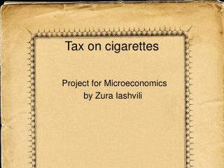 Tax on cigarettes