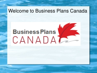 Business Plans Canada