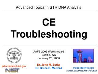 Advanced Topics in STR DNA Analysis