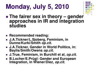 Monday, July 5, 2010