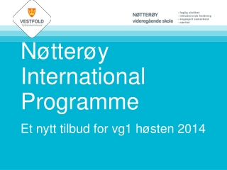 Nøtterøy Upper Secondary International Programme