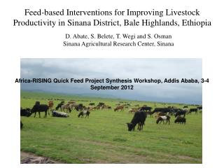 Feed-based Interventions for Improving Livestock Productivity in Sinana District, Bale Highlands, Ethiopia