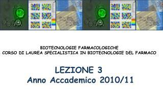 LEZIONE 3  Anno Accademico 2010