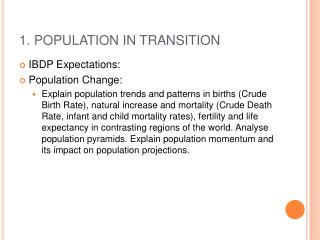 1. POPULATION IN TRANSITION