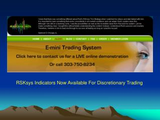 RSKsys Indicators Now Available For Discretionary Trading