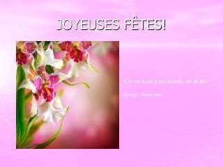 JOYEUSES F TES