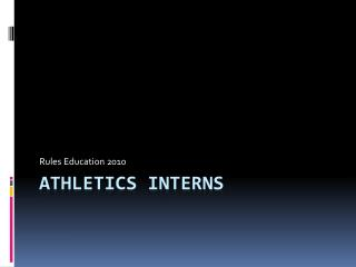Athletics Interns