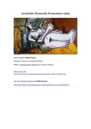 Acostado Desnudo Femenino 1964 -- Artisoo