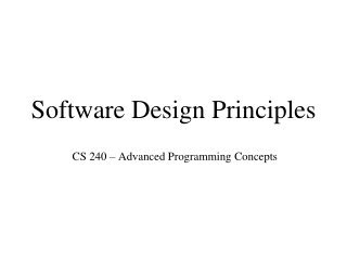 Computer Science 428  Software Engineering