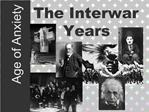 The Interwar Years